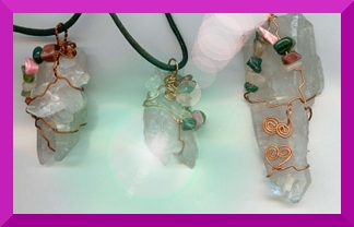 Vicki's Heart Crystal Necklaces